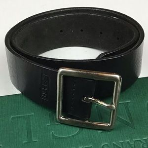 "Esprit Black Leather Belt 23.5"" to 27.5"""